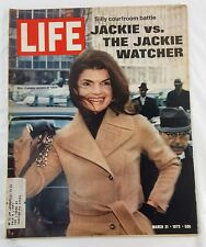 LIFE MAGAZINE MARCH 31, 1972 Jackie Onassis Ford Mustang Dodge Dart VW Bug Ad