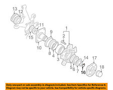 GM OEM Hub Assembly-Front-Snap Ring 96057792