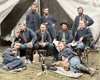 "Civil War. Lt. Custer and Union Troops (1862) Colorized Photo size: 8""x10"". fm23"