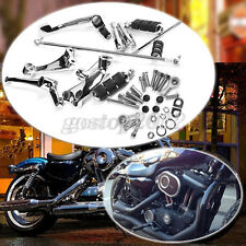 Chrome Foot Pegs Forward Control Kit for Harley Sportster XL 883 1200 48 Iron