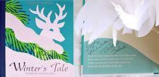 Robert Sabuda SIGNED & LINED~Winter's Tale~ Pop-Up Book~RARE 1st/1st NEW