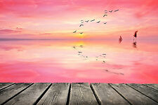 STUNNING ABSTRACT PINK SUNSET CANVAS #243 QUALITY A1 SUNSET WALL ART HOME DECOR
