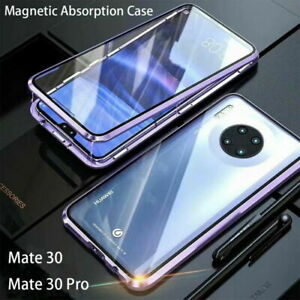 360° Tempered Glass Metal Bumper Magnetic Adsorption Case Cover For Smart Phone