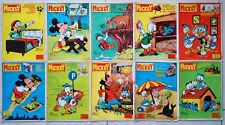 Lot de 10 numéros Le Journal de Mickey 1967 de 780 à 789