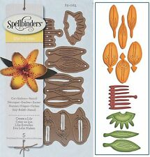 SPELLBINDERS SHAPEABILITIES CUTTING DIE D-LITES CREATE A LILY UNIVERSAL FIT