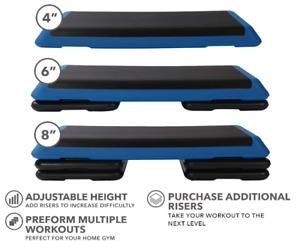 ANJ Fitness Aerobic Exercise Step Stepper Riser Gym Cardio Fitness Bench 3 level