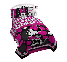 Disney Minnie Mouse Classic Kids Bed Twin Sheet Set Girl Children Bedding Sheets