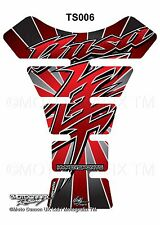 Suzuki Hayabusa GSX1300R Red Motorcycle Tank Pad Motografix 3D Gel Protector