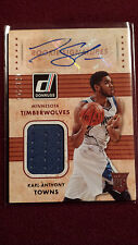 Karl-Anthony Towns 2015 Donruss Rookie Signatures Jersey Auto RC 107/149