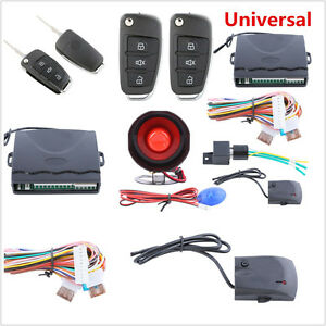 Auto Car Alarm System w/Flip Key Remote Control Keyless Entry Remote Anti Theft