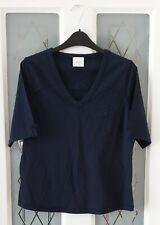 Next Mutterschaft V Hals Navy T Shirt Top Größe 12 BNWOT
