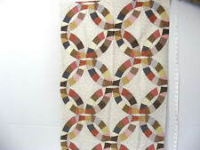 "Pillow Panel Material,26"" X 39"",""Double Wedding Ring Rust"""
