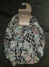 Womens Snood Scarf TU Floral & Checks Black White Pink Blue