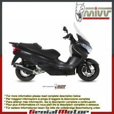 Mivv Complete Exhaust Stronger Black Steel for Suzuki Burgman 200 2007 > 2013