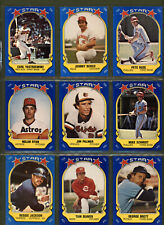 1981 Fleer Star Stickers Baseball Card Lot of 9 Hall of Famers and Checklist