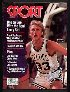 Larry Bird Autographed Signed Sport Magazine Boston Celtics No Label AA10386