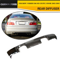 Carbon Fiber Rear Bumper Diffuser Lip Fit for BMW 3 Series E46 M3 2-Door 02-05