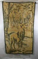 Vintage Deer Tapestry Wall Hanging Rug Cabin Decor 43 x 24 inch woods lodge