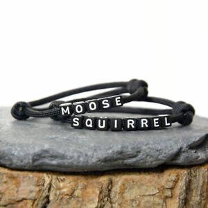 Supernatural Bracelet Set - Moose and Squirrel Set - Handmade - UK
