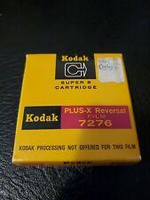 Kodak Plus-X Super 8 15m (50ft) Motion Picture B&W Reversal Film Cartridge 7276