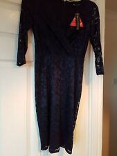 Definitions Navy Size 8 Lacy Dress