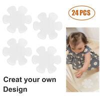 24pcs Non-Slip Safety Stickers Strips Mat Shower Bathtub Anti Slip Treads Stair