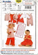 Burda Kids Sewing Pattern 9650 Infants Romper Pants Hat Jumper Size 3M-18M