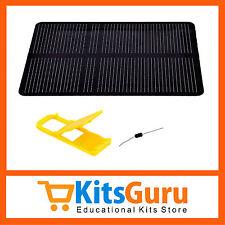 Monocrystalline Silicon Solar Panel 5.5V 130mA .6Watt 112mm X 82mm X 3mm KG423