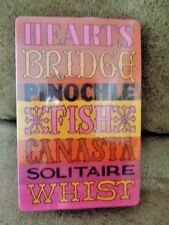 Playing Cards Deck Game Names Hearts Bridge Pinochle Fish Canasta Solitaire Whit