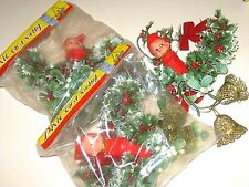 Lot of 6 Vintage OLD Stock NIP Christmas Decor PIXIE on a SWING Knee-Hugger Elf