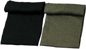 MILITARY STYLE SCARF 100% WOOL COLD WEATHER SCARVES USA MADE NEW OD OR BLACK