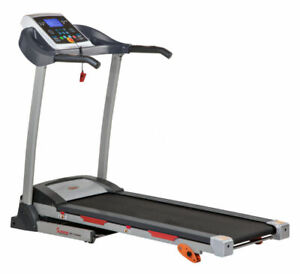 Folding Treadmill with Device Holder, Shock Absorption and Incline, Gray