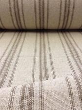 Grain Sack Fabric - Cream Fabric w/12 Tan Stripes