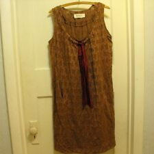 Marni 2010 Summer Edition Brown Sleeveless Shift Dress Size Italian 40 US Size 4
