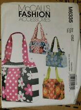 McCall's Fashion ACCESSORIES bags pattern M6335 Uncut