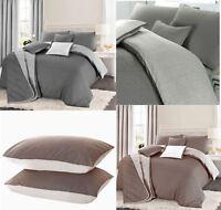 Soft Reversible Geometric Quilt Duvet Cover Bedding Set Single Double Super King