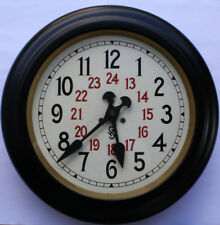 alte Siemens & Halske Uhr Bahnhofsuhr Werksuhr Industrie-Uhr Wanduhr Antik