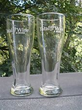 TOTAL WINE & MORE! A PAIR OF NEW (IN THE BOX) 16 OZ BEER GLASSES