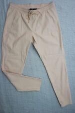 SPORTSGIRL nude dusty pink PVC tracksuit pants size M BNWT