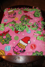 "FLEECE NO SEW BLANKET 52"" X 58"" CHRISTMAS THEME"
