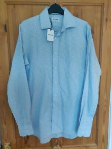 Duchamp Embroidered Tailored Fit Shirt Mens M 15.5 New W Tags