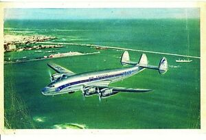 AIR FRANCE Airlines Lockheed Constellation Postcard