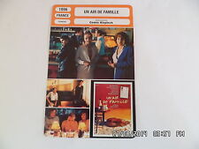 CARTE FICHE CINEMA 1996 UN AIR DE FAMILLE Jean Pierre Bacri JP Darroussin C.Frot