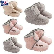 Newborn Baby Shoes Boys Girls Anti-Slip Warm Cotton Boots Soft Prewalker Shoes