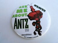 VINTAGE PROMO PINBACK BUTTON #109-050 - ANTZ movie ASK ME