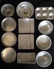 Vintage Toy Aluminum Cooking Set~14 Pieces~Cookie Sheet~Cake Pan~Collindar~Bowl~
