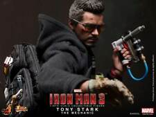 Hot Toys Iron Man Tony Stark Mechanic Version MK 42 Robert Downey Jr -New / MIB!