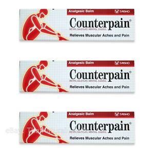 3 x 120g Counterpain Balm Muscle Pain Arthritic Rheumatic Aches Relief Massage
