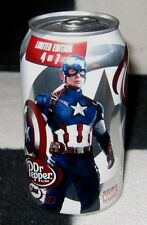 MARVEL FIRST AVENGER AGE ULTRON SUPER HEROES CAPTAIN AMERICA DR PEPPER SUPERHERO