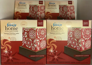 FEBREZE Home Collection PEPPERMINT SPARKLE LUMINARY Refills 4 BOXES= 8 Refills